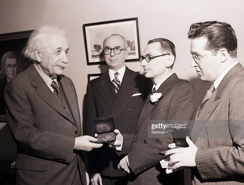 The first Albert Einstein Award for Achievement in the Natural Sciences
